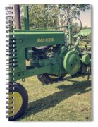Farm Green Tractor Vintage Style Spiral Notebook