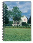 Farm House And Spring Field, Maryland Spiral Notebook