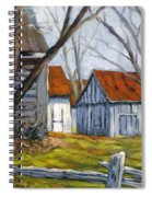 Farm In Berthierville Spiral Notebook