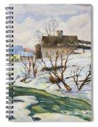 Farm In Winter Spiral Notebook