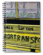 Farm Labor Bus Spiral Notebook