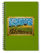 Farm On Hwy 28 Framed  Spiral Notebook