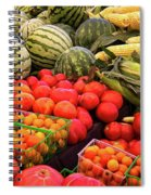 Farm To Market Produce - Melons, Corn, Tomatoes Spiral Notebook