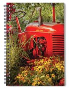 Farm - Tractor - A Pony Grazing Spiral Notebook