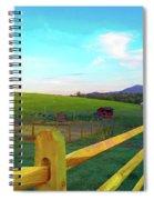 Farm Yard Fence Spiral Notebook