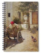 Farm Yard Scene Spiral Notebook