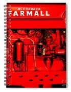 Farmall Engine Detail Spiral Notebook