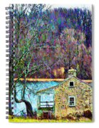 Farmhouse By The Lake Spiral Notebook