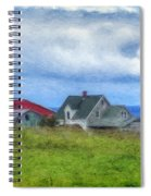 Farmhouse By The Sea Spiral Notebook