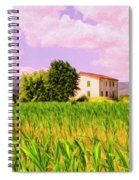 Farmhouse In Tuscany Spiral Notebook