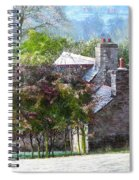Farmhouse On A Cold Winter Morning. Spiral Notebook