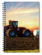 Farming April In The Field On The Case 500 Spiral Notebook