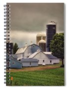 Farming Before The Storm Finger Lakes New York 04 Spiral Notebook