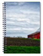 Farming Red Barn On A Quite Spring Day Spiral Notebook