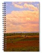 Farmland In Gettysburg Spiral Notebook