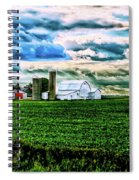 Farmland In  Hdr Spiral Notebook
