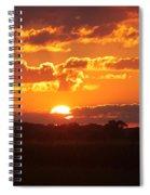 Farmland Sunset Spiral Notebook