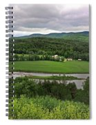 Farmland View Over The Connecticut River  Spiral Notebook