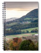 Farms Under The Morning Fog Spiral Notebook