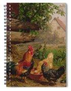 Farmyard Chickens Spiral Notebook