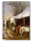 Farmyard In Winter  Spiral Notebook
