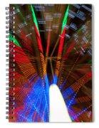 Farris Wheel Light Abstract Spiral Notebook