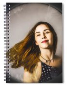 Fashion And Makeup Woman At Beauty Salon Store Spiral Notebook