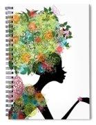 Fashion Girl With Hair Arabesque Spiral Notebook
