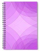 Fashion Semi Circle Background Horizontal Spiral Notebook