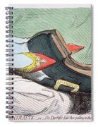 Fashionable Contrasts Spiral Notebook