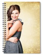 Fashionable Girl In Classic 50s Style Clothing Spiral Notebook