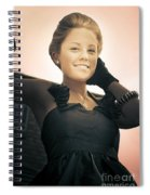 Fashionable Wealthy Woman Spiral Notebook