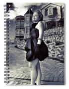 Fashionable Woman And Mansion Spiral Notebook