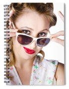 Fashionable Woman In Sun Shades Spiral Notebook