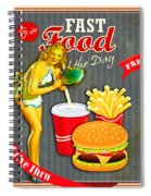 Fast Food Of The Day Spiral Notebook