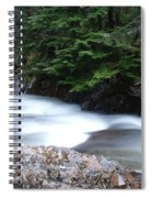 Fast Water Tumbling Fast  Spiral Notebook