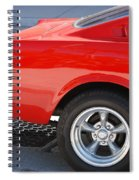 Fastback Mustang Spiral Notebook