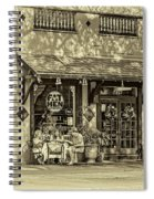 Fat Hen Grocery Sepia Spiral Notebook