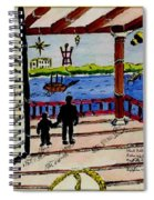 Father And Son On The Porch Spiral Notebook