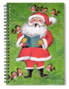 Father Christmas And Robin Chorus Spiral Notebook