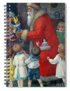 Father Christmas With Children Spiral Notebook