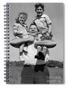 Father Holding Children, C.1930s Spiral Notebook