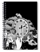 Father Time In Black And White Spiral Notebook