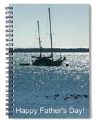 Father's Day Card - Peaceful Bay Spiral Notebook