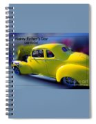 Father's Day W Frame Spiral Notebook
