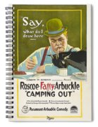 Fatty Arbuckle In Camping Out 1919 Spiral Notebook