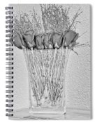 Faux Roses Spiral Notebook