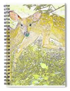 Fawn Twins Digital Painting Spiral Notebook