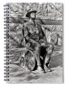 Fdr Memorial Sculpture In Wheelchair Spiral Notebook
