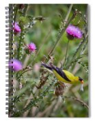Feasting In The Flowers Spiral Notebook
